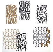 Elisabeth Craft Dies , By Lene, Lawn Fawn Modelli di taglio, Planner Patterns