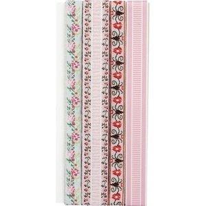 DEKOBAND / RIBBONS / RUBANS ... Dekorationsband: Embroidery flowers - nur noch wenige vorrätig!