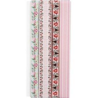 DEKOBAND / RIBBONS / RUBANS ... Dekoration Ribbon: Broderi blomster
