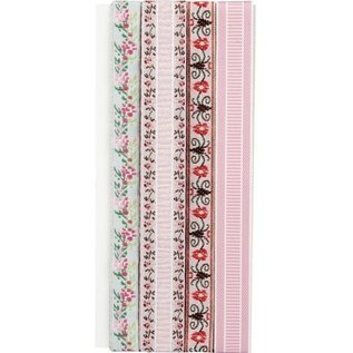 DEKOBAND / RIBBONS / RUBANS ... Dekorationsband: Embroidery flowers- nur noch wenige vorrätig!