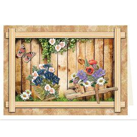 REDDY Hoja troquelada con 41 motivos, cajas de madera, cesta, macetas y más