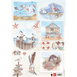 Marianne Design Hoja de imagen A4, elaboración con papel, libro de recuerdos, diseño de tarjetas.