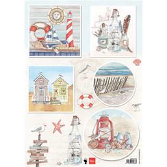 A4 billedark, udformning med papir, scrapbog, kortdesign