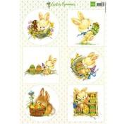 Marianne Design Billedblad A4 Sweet Bunnies