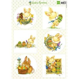 Marianne Design Billedblad A4 Sweet Bunnies