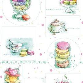 Marianne Design Basteln mit Papier: Bilderbogen A4 Tea for you