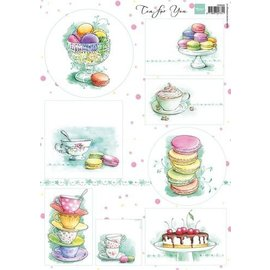 Marianne Design Basteln mit Papier: Bilderbogen A4 Tea for you