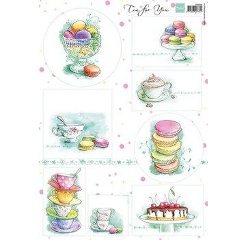 Marianne Design Picture Sheet A4 Tea voor jou