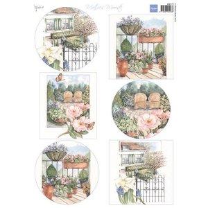 Marianne Design A4 ark med billeder, smukkeste have