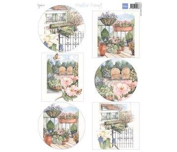 Marianne Design A4 vel met foto's, mooiste tuin