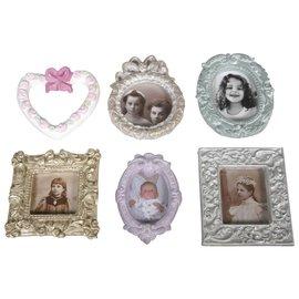 Modellieren Fundición: marco de fotos, 6 motivos 6,5 a 8 cm.