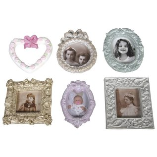 Modellieren Casting: picture frame, 6 motives 6.5 to 8 cm.