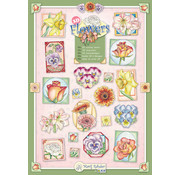 """BASTELSETS / CRAFT KITS SET with 10 various stamping sheets with flowers motifs by the artist """"Marij Rahder"""""""