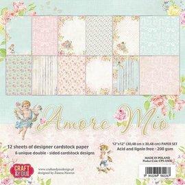 Karten und Scrapbooking Papier, Papier blöcke Papirblok, Amore Mio, 15,5 x 15,5 cm