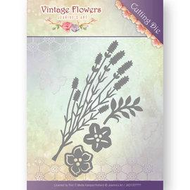 JEANINES ART (NEU) Plantillas de corte, Vintage Flowers 5,2 x 8,9 cm