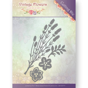 JEANINES ART (NEU) Matrices de découpe, Vintage Flowers 5,2 x 8,9 cm