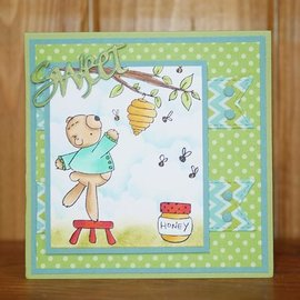 Elisabeth Craft Dies , By Lene, Lawn Fawn Elizabeth Crafts, Stamp, Transparent, Honey Bear