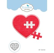 Elisabeth Craft Dies , By Lene, Lawn Fawn Stansemaler, Puzzle Heart