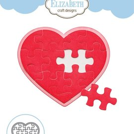 Elisabeth Craft Dies , By Lene, Lawn Fawn Taglio muore, Puzzle Heart