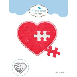 Elisabeth Craft Dies , By Lene, Lawn Fawn cutting dies, Puzzle Heart