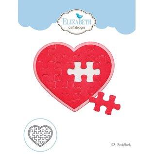 Elisabeth Craft Dies , By Lene, Lawn Fawn Plantillas de corte, Puzzle Heart