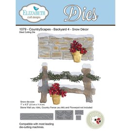 Elisabeth Craft Dies , By Lene, Lawn Fawn Matrices de découpe, Snow Decor