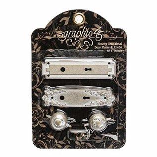 Embellishments / Verzierungen Abbellimenti: battenti in metallo con bottoni, Shabby Chic