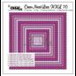 Crealies und CraftEmotions Snijsjablonen,  XXL 12 Vierkanten met borduurmotieven