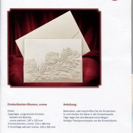 KARTEN und Zubehör / Cards Cartes de stock exclusives fleurs crème