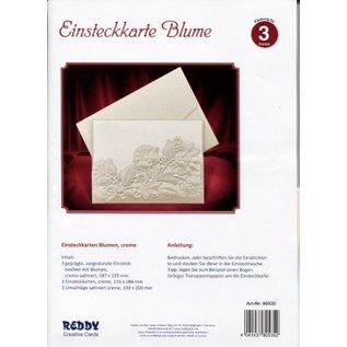 KARTEN und Zubehör / Cards Tarjetas de stock exclusivas flores crema.