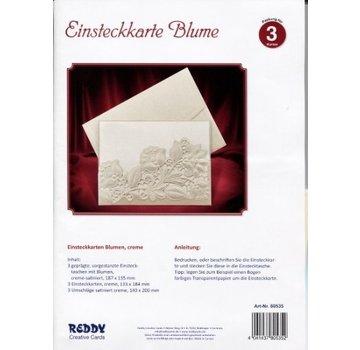 KARTEN und Zubehör / Cards Eksklusive lager kort blomster creme