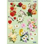 Bilder, 3D Bilder und ausgestanzte Teile usw... 3D Pusch Out A4 sheet: flower bouquets