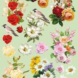 Bilder, 3D Bilder und ausgestanzte Teile usw... Hoja de A4 precortada 3D: ramos de flores