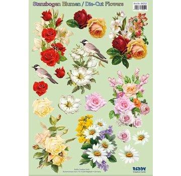 Bilder, 3D Bilder und ausgestanzte Teile usw... 3D Vorgestanzte A4 Bogen: Blumenbouquets
