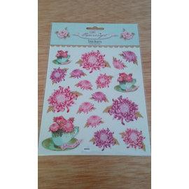 Tilda Sticker Rosen, zum Basteln mit Papier