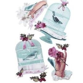 Tilda Tilda 3D Stickers: Winterbird - LAATST op voorraad!