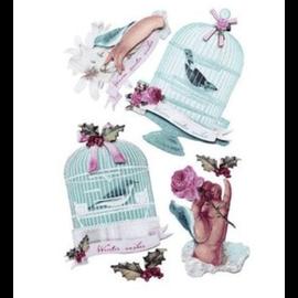 Tilda Tilda 3D Stickers: Winterbird - DERNIÈRE en stock!