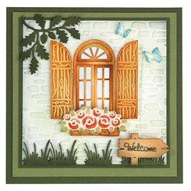 Leane Creatief - Lea'bilities und By Lene Stanzschablonen, Fenster mit Fensterläden