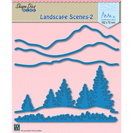 Leane Creatief - Lea'bilities und By Lene ACTION! Stanzschablonen, Landscape scenes