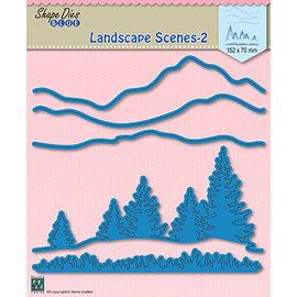 Leane Creatief - Lea'bilities und By Lene Stanzschablonen, Landscape scenes