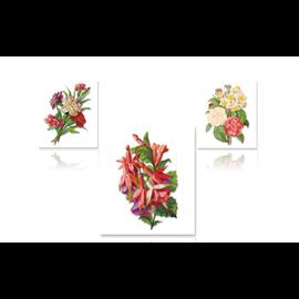 Bilder, 3D Bilder und ausgestanzte Teile usw... 3D push out A4-blad: rozen, anjers, fuchsia's
