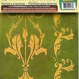 Schablonen, für verschiedene Techniken / Templates 3 DecoArt Texture Stencils, A4, af Tracy Moreau, Acanthus Borders