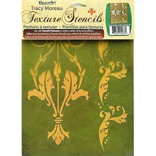Modellieren 3  DecoArt Texture Stencils, A4,  by Tracy Moreau, Acanthus Borders