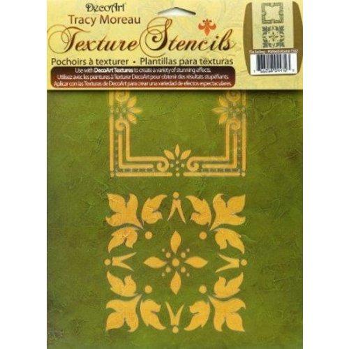 Schablonen, für verschiedene Techniken / Templates 3 DecoArt Texture Stencils, A4, by Tracy Moreau, Acanthus Borders