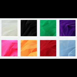 un SET avec 8 x tulle décoratif, 25 cm x 25 cm en 8 couleurs!