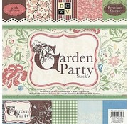 DCWV und Sugar Plum Designer block, The garden party, 48 sheets, 30.5 x 30.5 cm