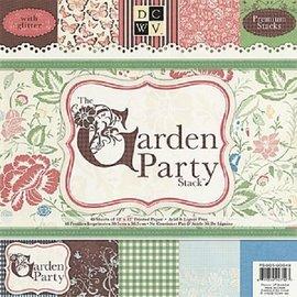 DCWV und Sugar Plum Blocco di design, La festa in giardino, 48 fogli, 30,5 x 30,5 cm