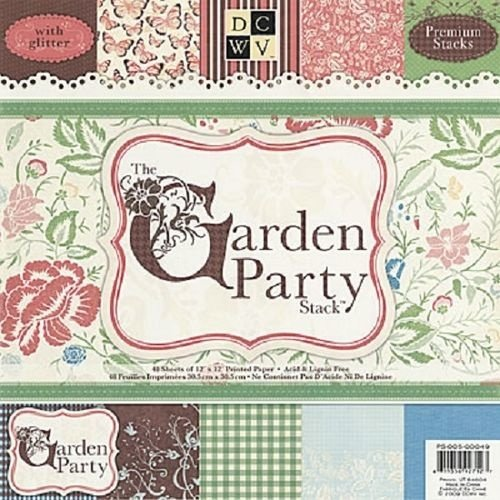 DCWV und Sugar Plum Bloc de créateurs, The Garden Party, 48 feuilles, 30,5 x 30,5 cm