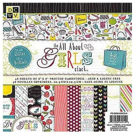 "DCWV und Sugar Plum DCWV, Designer Block, ""the all about Girls"", 48 Blatt, 30,5 x 30,5 cm"