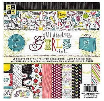 "DCWV und Sugar Plum DCWV, designer block, ""the all about girls"", 48 sheets, 30.5 x 30.5 cm"